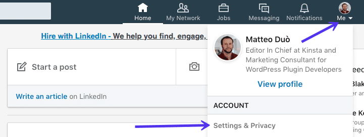 export emails linkedin